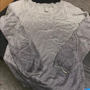 Ombré sparkle sweater